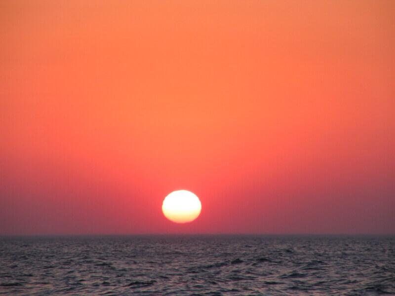 Enjoy the sunsets during your internship Corfu