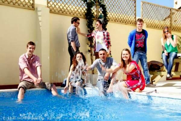 You will meet lots of people from all over the world during your English language course on Malta