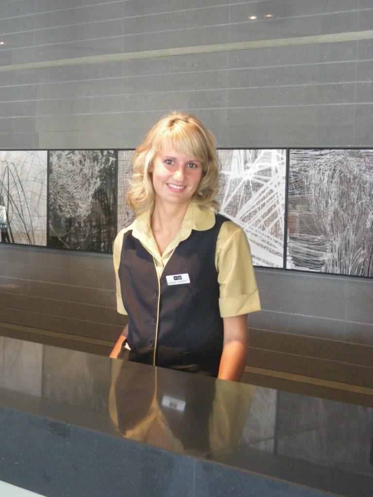 hotel internship reception on the Canary Islands