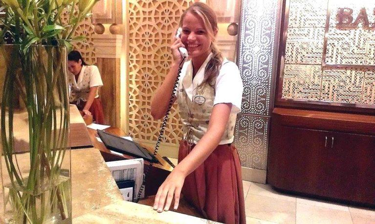 hotel internship on Fuerteventura_reception